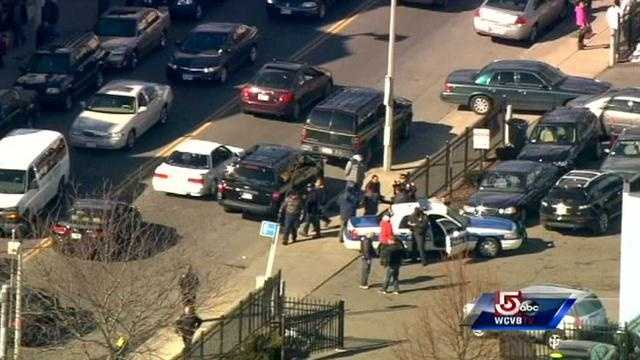 Boston police said they recovered guns believed to have been used in a Roxbury shoot out.