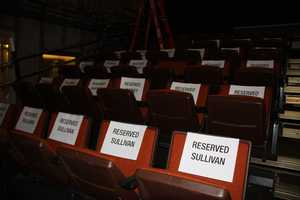 Seats are reserved for supporters of the candidates