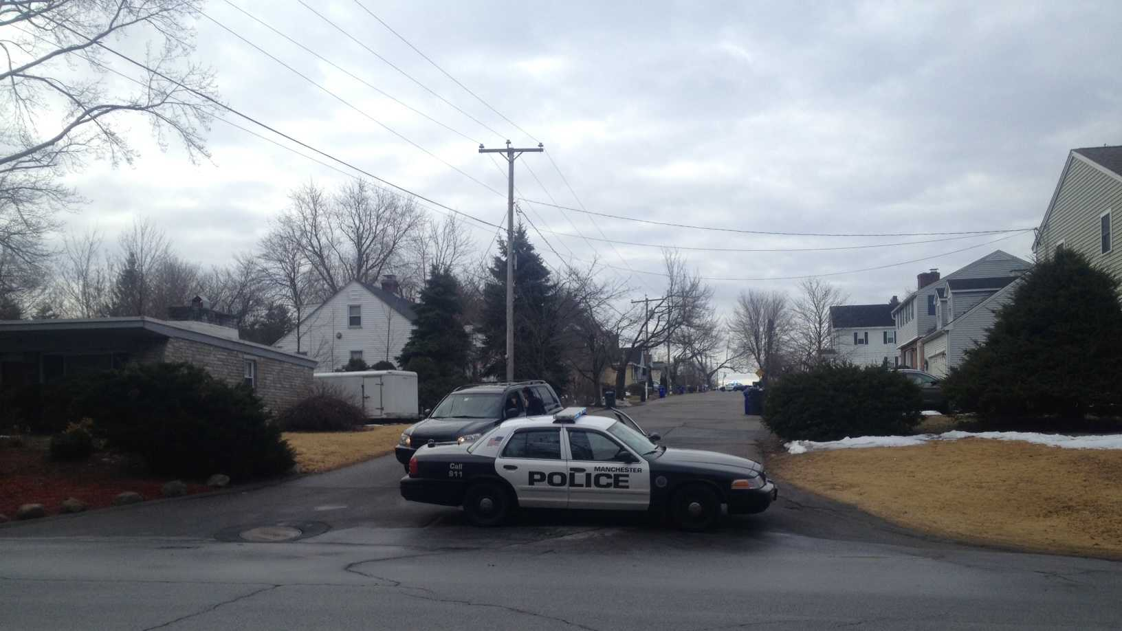 Parts of a Manchester neighborhood were evacuated Thursday morning due to a possible pipe bomb.