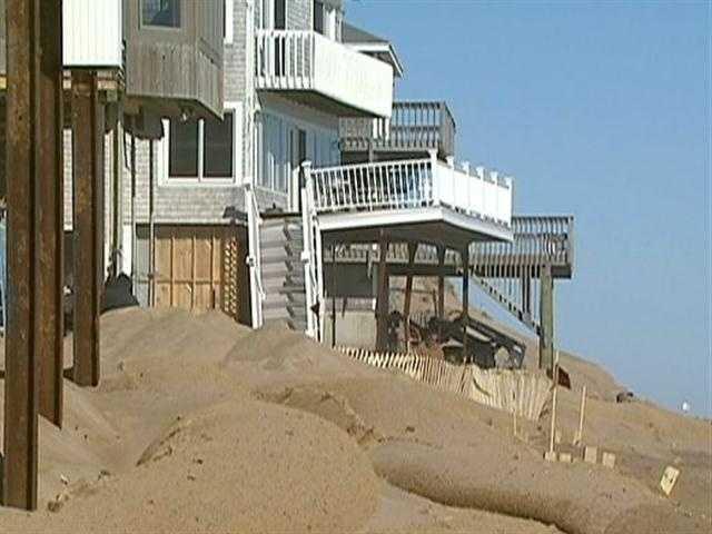 Massachusetts regulations prohibit Plum Island residents from building sea walls or rock barriers.