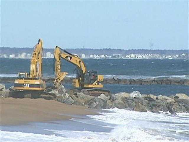 Islanders blame the jetties at the mouth of the Merrimack River.
