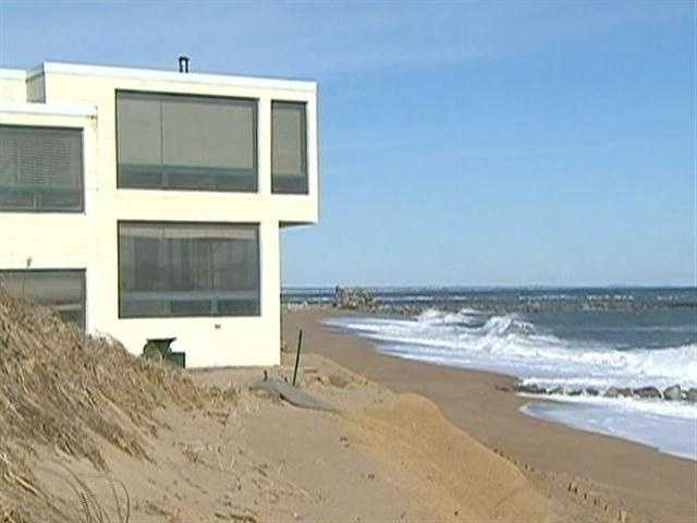 Residents say the jetties disrupt the natural flow of sand along the shore front.