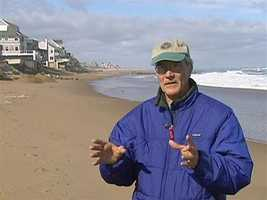 Environmental author Bill Sargent says global warming has led to sea level rise and more frequent, violent storms.