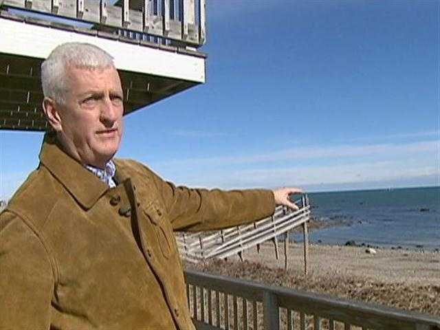 From his home on Bay Beach, Mike Sheehan has watched the sand vanish.