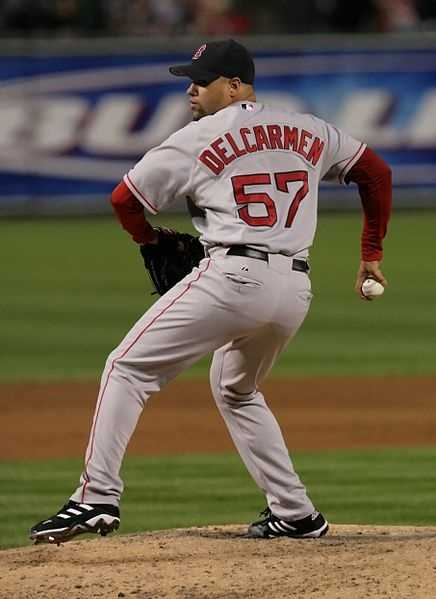Baltimore Orioles pitcher Manny Delcarmen was born Feb. 16, 1982, in Boston. He is a former Boston Red Sox player and made his major league debut on July 26, 2005.
