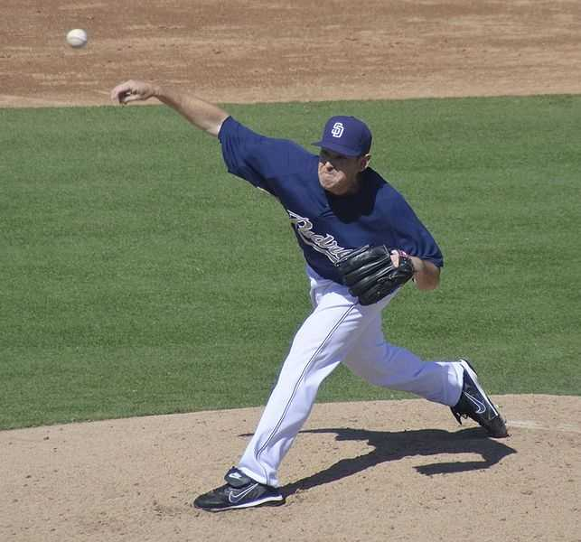 San Diego Padres pitcher Tim Stauffer was born June 2, 1982, in Portland, M.E. He made his major league debut on May 11, 2005.