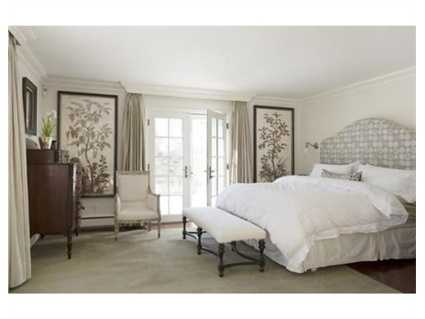 This bedroom features French Doors.