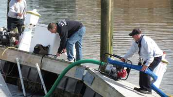 The boat could be totaled due to having its engine flooded with corrosive salt water.