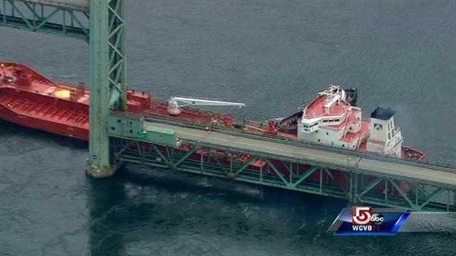 It crashed into the Sarah Mildred Long Bridge.
