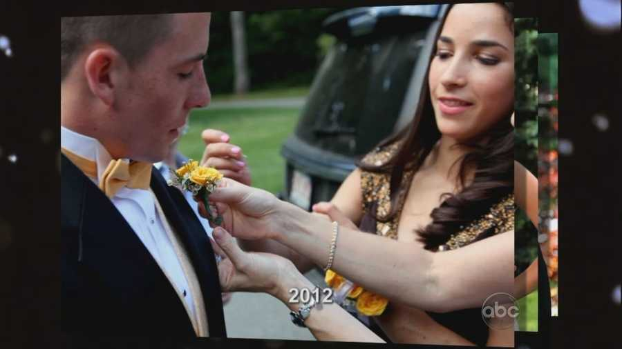 In the setup to the dance, Aly said she never got to go to any of her school dances because she was always training.