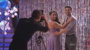 "Alexandra Raisman and Mark Ballas danced the Viennese Waltz to ""Give Me Love."""