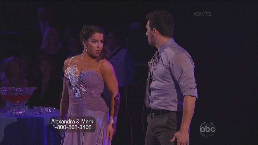 The dance started with cupid hanging above the stage, shooting an arrow at Aly and Mark.