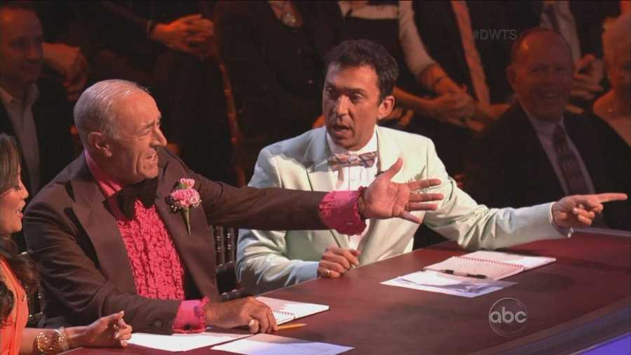 Judges Len Goodman and Bruno Tonioli disagreed with Carrie Ann. Scores: Carrie Ann Inaba 7&#x3B; Len Goodman 8&#x3B; Bruno Tonioli 8 = 23/30