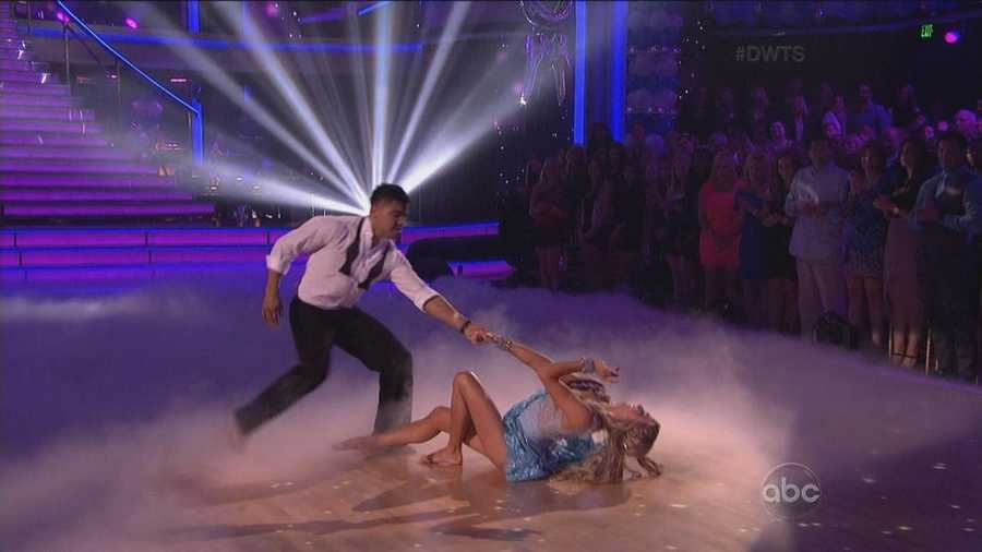 """""""What just happened? Victor... You're a dancer!"""" said Carrie Ann. """"Your best dance so far for me,"""" said Len Goodman."""