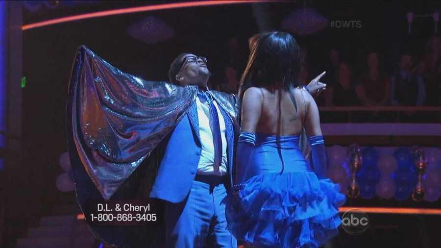 D.L. Hughley and Cheryl Burke dance the salsa.