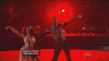 """Tonioli told Jones he was """"smoldering like a volcano of passion,"""" while Goodman said Jones displayed refinement and quality of movement."""