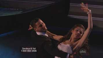 Zendaya and Val Chmerkovskiy performed the Viennese waltz.