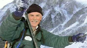No, he was not off climbing Mt. Everest