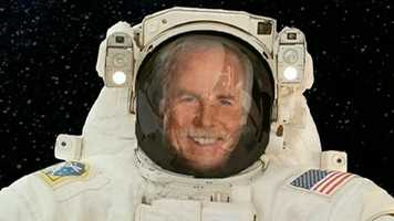 Nor was he an astronaut traveling in space.