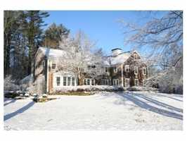The home sits on 10.9 acres of land.