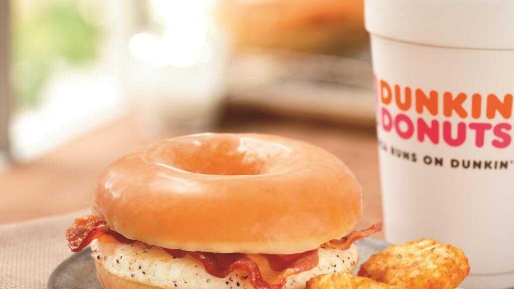 Dunkin Donuts Honey Glazed Breakfast Sandwich