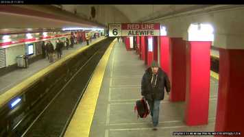 Anyone who recognizes the man in the surveillance images or has information about the case is asked to call Transit Police Detectives at 617-222-1050 or send a message through the MBTA SeeSay smartphone app or send an anonymous text to 873873.