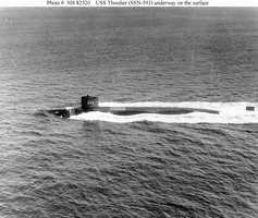 Underway on the surface, circa 1961-63.