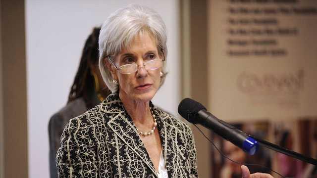 U.S. Health and Human Secretary Kathleen Sebelius