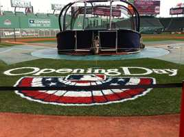 It's the Red Sox home opener at Fenway Park.