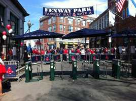 Fans wait to fill the park.