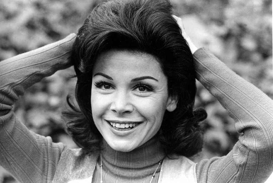 "Annette Funicello went from Mouseketeer to beach party movie icon.  The pretty, dark-haired Funicello was just 13 when she gained fame on Walt Disney's television kiddie ""club,"" an amalgam of stories, songs and dance routines that ran from 1955 to 1959. (October 22, 1942 – April 8, 2013)"