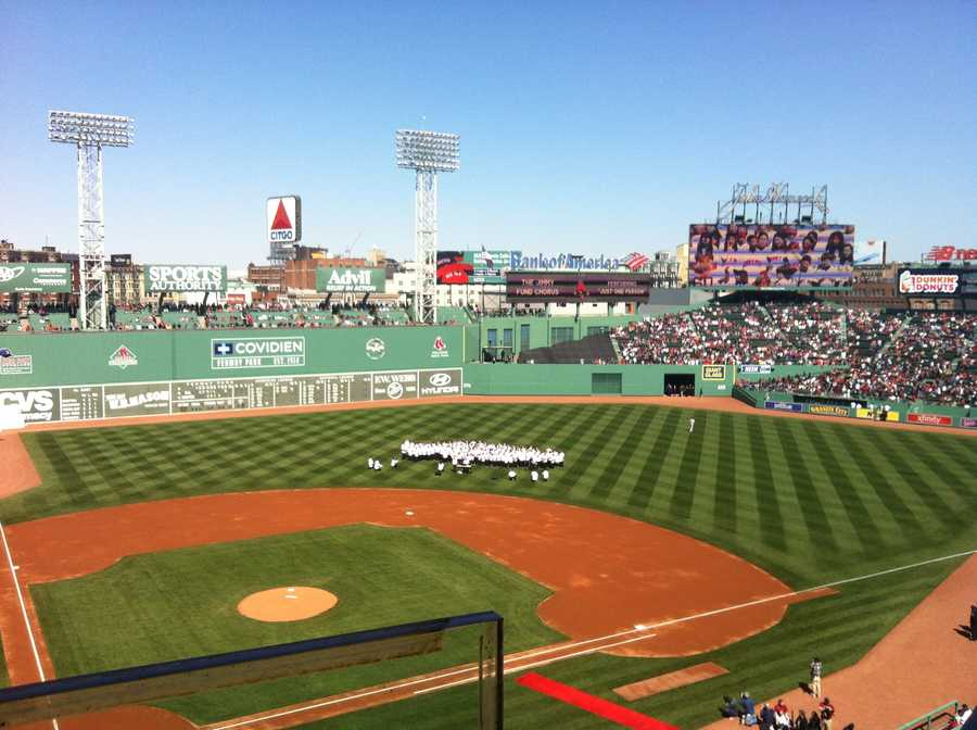 The Jimmy Fund Choir at Opening Day