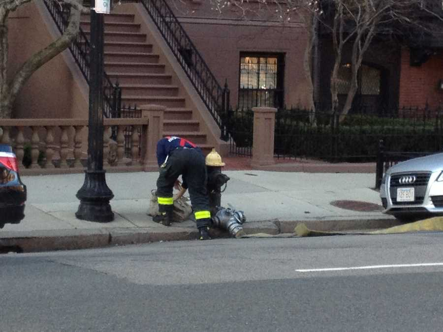 The fire in a six-story brownstone at 182 Beacon St. was reported before 6pm.