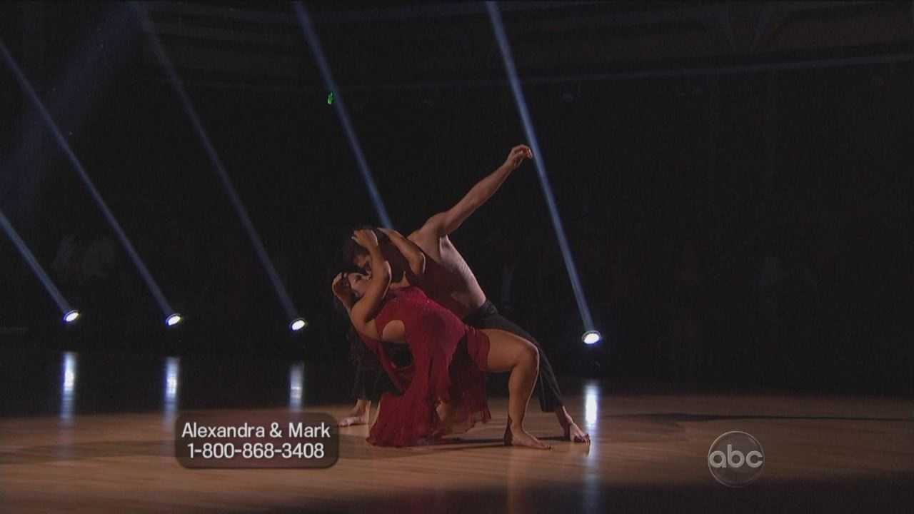 Needham's golden girl Aly Raisman is now the dancer on the top of the leaderboard. She and her professional dance partner Mark Ballas had an outstanding week on the dance floor.