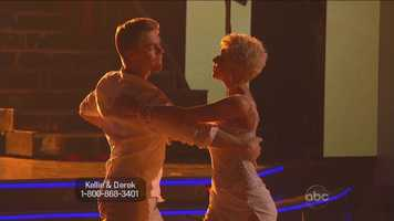 Kellie Pickler: The country music's singer's rumba – danced to a song her husband performed live in the ballroom – recalled her wedding day in 2011.