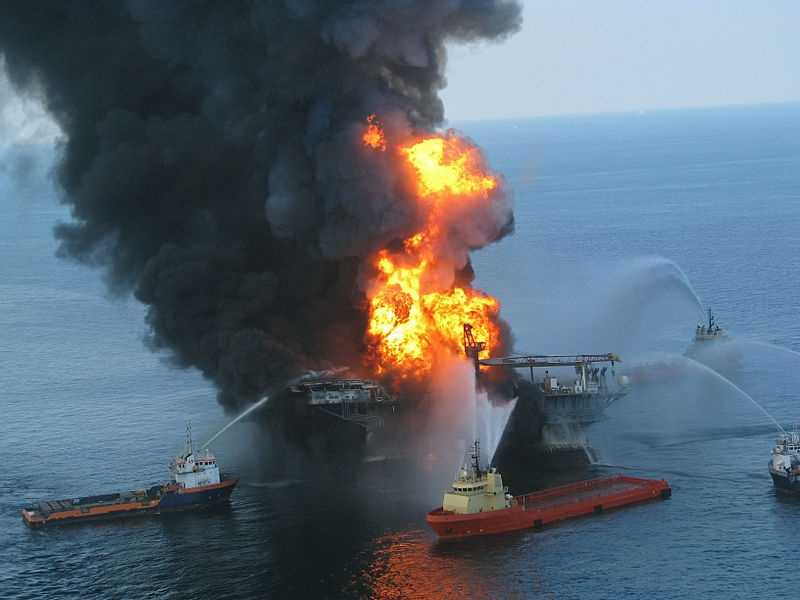 The explosion caused the Deepwater Horizon to burn and sink, resulting in a massive offshore oil spill in the Gulf of Mexico, considered the largest accidental marine oil spill in the world, and the largest environmental disaster in U.S. history