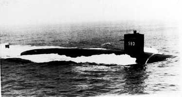 April 10, 1963: The second USS Thresher (SSN-593) was lost at sea during deep-diving tests about 220 miles east of Boston.