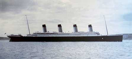 The wreck of the Titanic remains on the seabed, split in two and gradually disintegrating at a depth of 12,415 feet.