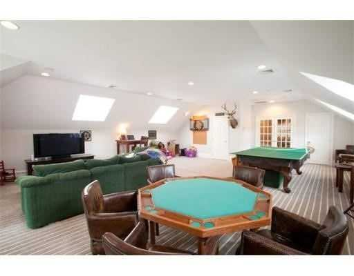 The home has a large recreation room on its second level