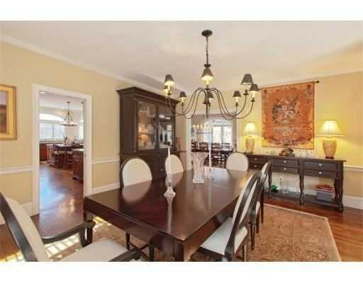 The home has hardwood floors throughout