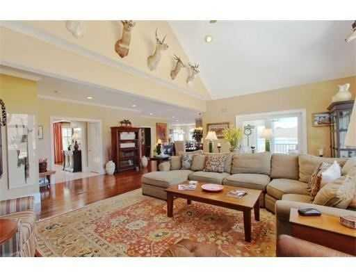 The home has cathedral ceilings