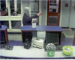 On February 21, 2013, TD Bank, 547 Broadway, Methuen, Massachusetts, was robbed at approximately 6:30 pm by an armed white male. The robber entered the bank, threatened to harm the tellers and demanded money.