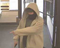 On March 28, 2013, TD Bank, 305 South Broadway, Lawrence, Massachusetts, was robbed by an armed white male at approximately 5:24 pm. On April 3, 2013, the alleged robber, who was armed and meets the same description as the 3/28/2013 robbery, entered TD Bank at 4:15 pm and again robbed the bank.