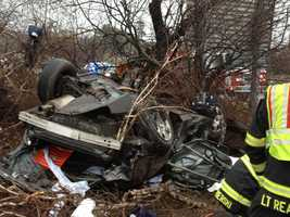 Danvers firefighters had to extricate the victim, who was pronounced dead at the crash scene, from the car.
