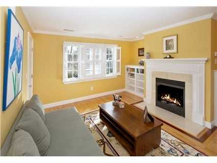 The master bedroom has a fireplaced sitting room.