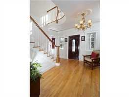 This custom colonial has 6,300 square feet of living space.