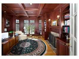 The home has his and hers offices. Both have fireplaces.