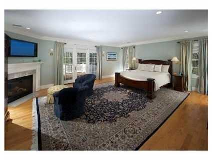 A large master suite.
