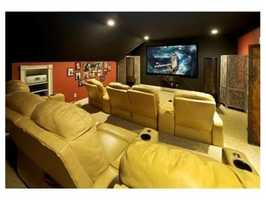 A state-of-the-art media room.