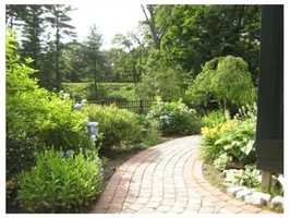 The home sits on more than an acre of private grounds.